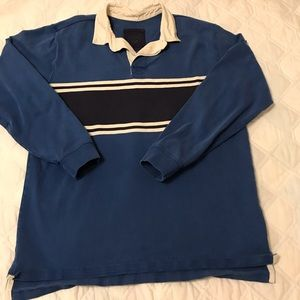 Vintage 90's LL Bean Rugby Shirt Ls Heavy L